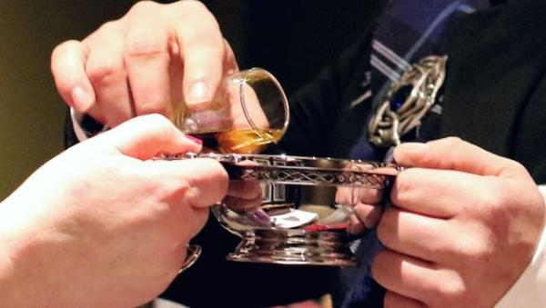 Whisky Wedding Loving Cup Quaich