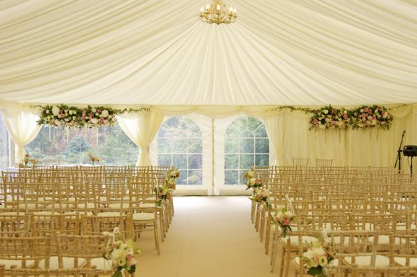 marquee wedding ceremony