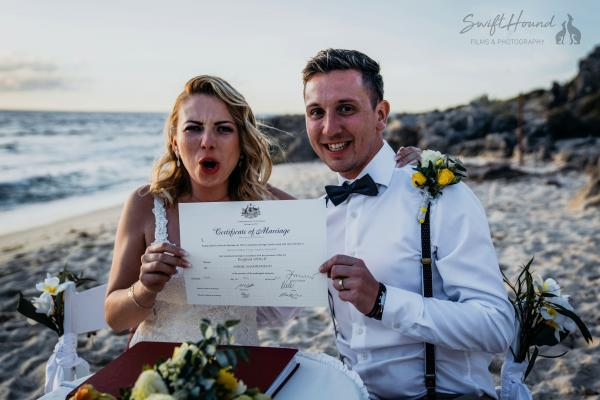 Australia! How to get legally married by a Celebrant.